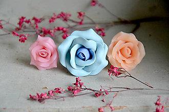 Prstene - Tri ruže, prstene, fimo - 12650048_