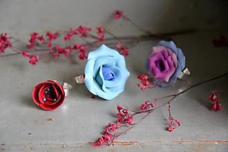 Prstene - Tri ruže, prstene, fimo - 12650072_