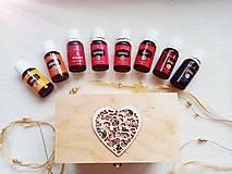 Krabičky - Krabička na esenciálne oleje - Srdce - 12649425_