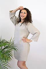 Pyžamy a župany - EVE šaty z BIO ľanu OEKO-TEX100 - 12651868_