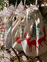 Úžitkový textil - Mikulášske a vianočné vrecko veľké I. - 12648909_