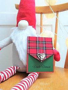 Papiernictvo - Vianočná pohľadnica s kapsou na peniažky - 12649493_
