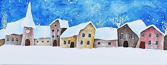 Obrazy - Snehové ráno 50x20 cm - 12653256_
