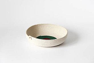 Košíky - Provazový košíček přírodní - 12660609_