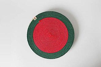 Úžitkový textil - Sada prostírání červenozelená - 12660630_