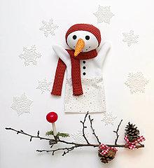 Hračky - Maňuška snehuliačka Bianka - 12660867_