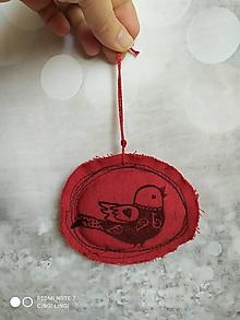 Dekorácie - Tri Vianočné sýkorky so srdiečkom na krídlach.. - 12656262_