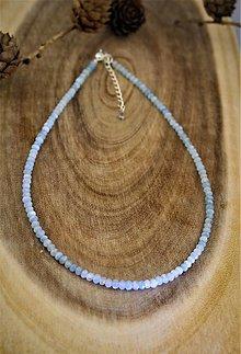Náhrdelníky - Akvamarínový náhrdelník v striebre - brúsené kamene - 12658685_