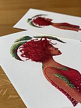 Melancholická červenovláska - Print | Botanická ilustrácia