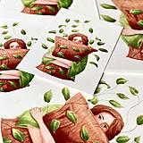 Grafika - Lenivý víkend - Print | Botanická ilustrácia - 12656079_