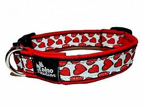 Pre zvieratká - Obojok Red Hearts softshell - 12655975_