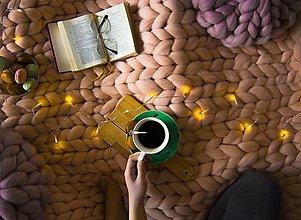 Úžitkový textil - Merino deka 160x200 | farba MARHUĽOVÝ KRÉM | SKLADOM - 12655516_