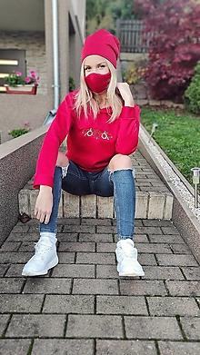 Mikiny - Anela mikina Červená - 12656722_