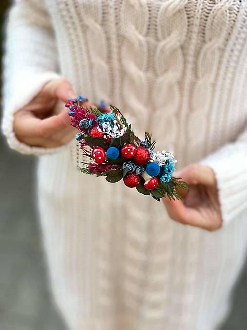"""Vianočná čelenka """"čarovný les"""""""