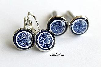 Sady šperkov - Set Modrotlač 12mm - 12661259_