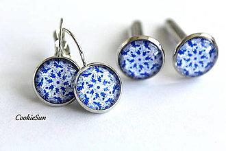 Sady šperkov - Set Modrotlač 12mm - 12661265_