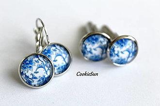 Sady šperkov - Set Modrotlač 12mm - 12661279_