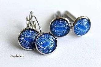Sady šperkov - Set Modrotlač 12mm - 12661280_