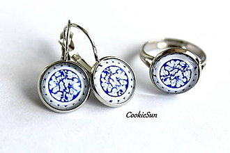 Sady šperkov - Set Modrotlač 12mm - 12661284_