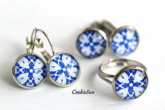 Sady šperkov - Set Modrotlač 12mm - 12661291_