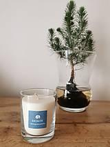 Svietidlá a sviečky - Prírodná vonná sviečka v skle   Bylinková - 12659434_