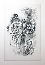 Kresby - Gotický chrlič na katedrále Art Print - 12661246_