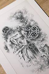 Kresby - Gotický chrlič na katedrále Art Print - 12661247_