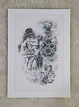 Kresby - Gotický chrlič na katedrále Art Print - 12661253_