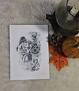 Kresby - Gotický chrlič na katedrále Art Print - 12661260_