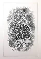 Kresby - Klopadlo z labyrintu gotickej katedrály Art Print - 12661304_