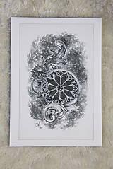 Kresby - Klopadlo z labyrintu gotickej katedrály Art Print - 12661306_