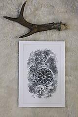 Kresby - Klopadlo z labyrintu gotickej katedrály Art Print - 12661307_