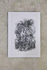 Kresby - Gryphon na gotickom zámku Art Print - 12661325_