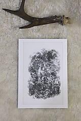 Kresby - Gryphon na gotickom zámku Art Print - 12661327_