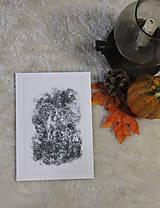 Kresby - Gryphon na gotickom zámku Art Print - 12661330_