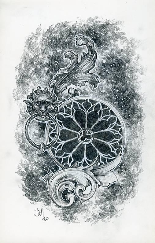 Klopadlo z labyrintu gotickej katedrály Art Print