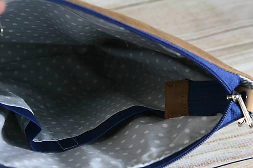 Kožená modrotlačová Dara hnedá AM 4