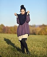 Mikiny - Lněná bundomikina s kapucí - 12659287_