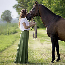 Sukne - Ľanová sukňa Alica zelená - 12664260_