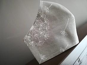 Rúška - Anatomicky tvarované bavlnené rúško / pupavky - 12665469_