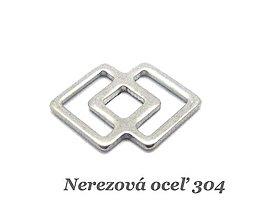 Komponenty - Konektor kosoštvorec /M7057/ - nerezová oceľ 304 - 12663162_
