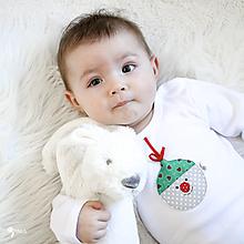 Detské oblečenie - body VIANOČNÁ GUĽA (dlhý/krátky rukáv) - 12665778_