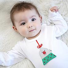 Detské oblečenie - body VIANOČNÝ ZVONČEK (dlhý/krátky rukáv) - 12665870_