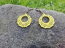 Náušnice - Náušničky ozdôbky žlté - 12661600_
