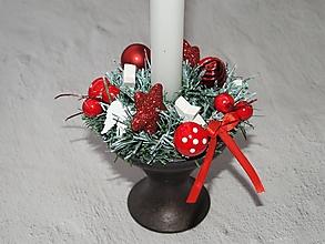 Svietidlá a sviečky - Svietnik 47 - vianočný - 12663792_