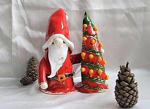 """Dekorácie - Keramický trpaslík """"Vianočný stromček"""" - 12666458_"""
