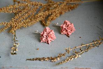 Náušnice - Rozkvitnuté ruže, náušnice, fimo - 12661764_