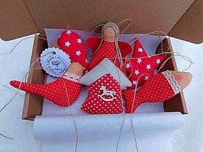 Dekorácie - Vianočné ozdoby Bodka a Hviezička, 6 ks v sade - 12662315_