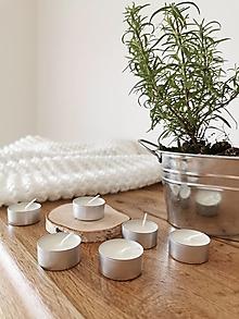 Svietidlá a sviečky - Prírodné čajové sviečky | set 6 ks/18 ks - 12664282_