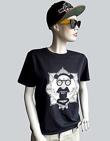 Tričká - Meditate čierne tričko - 12661736_